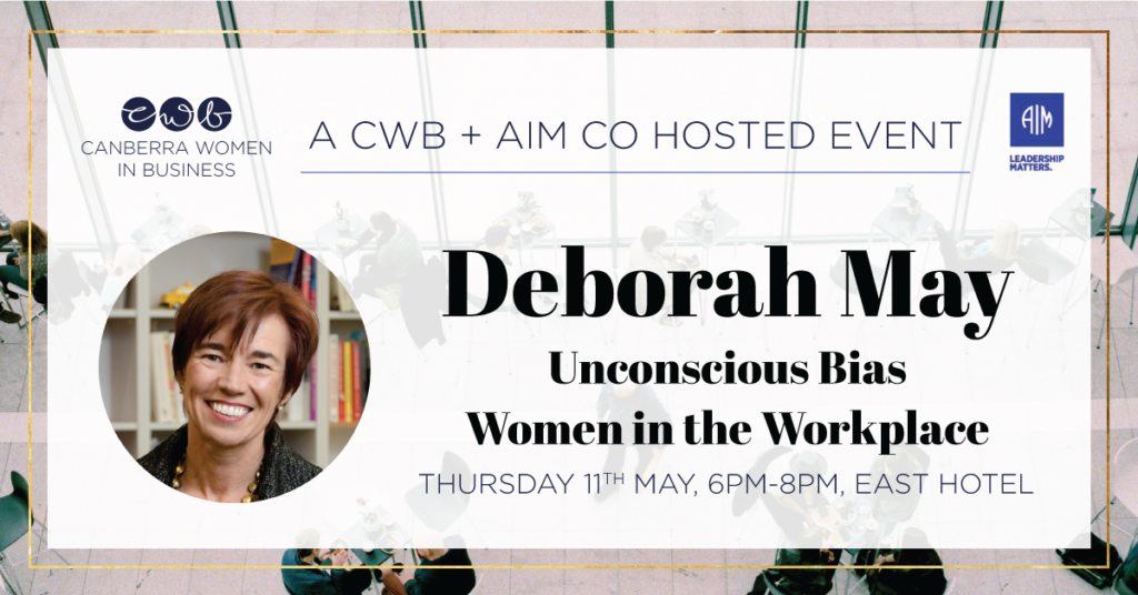 May - Joint event with AIM - Unconscious Bias & Women in the Workplace
