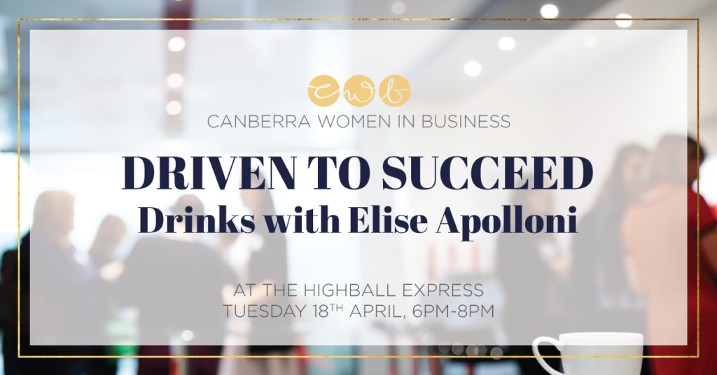 APRIL Driven to Succeed - Drinks with Elise Apolloni