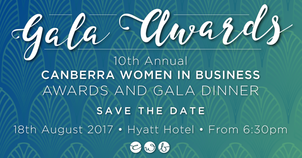 10th Annual Canberra Women in Business Awards & Gala Dinner