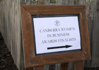 Canberra Women in Business Awards Finalists Sign